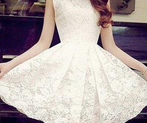 dress, white, and moda image