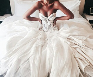 bride, style, and white dress image