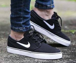 boy, nike, and shoes image