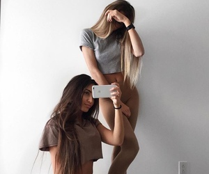 best friends, hair, and sisters image