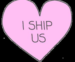 ship, heart, and us image