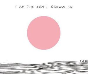 sea, drown, and grunge image