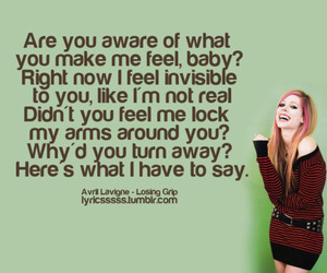 Avril Lavigne, Lyrics, and text image