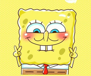 spongebob, wallpaper, and yellow image