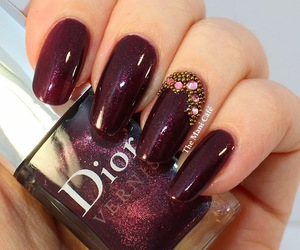 nails, dior, and 💅 image