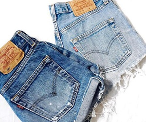 jeans, shorts, and fashion image