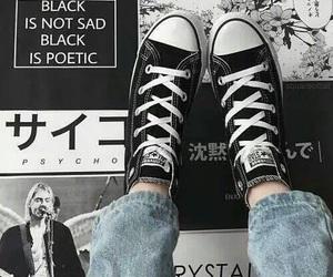 converse, tumblr, and black image