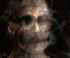 art, creepy, and face image