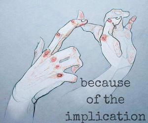 art, blood, and illustration image