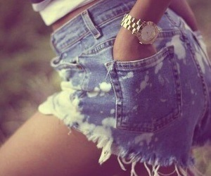 girl, style, and shorts image