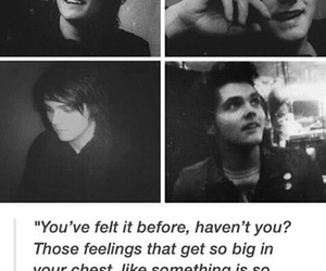 frank iero, gerard way, and mcr image