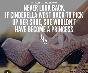 quote, cinderella, and never look back image
