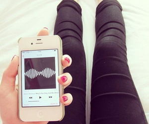 music, iphone, and arctic monkeys image