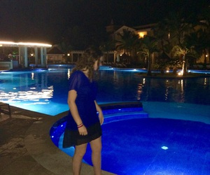 blue, Dominican Republic, and dress image