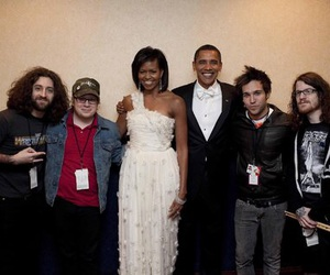 fall out boy, band, and barack obama image
