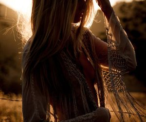 boho, girl, and outfit image
