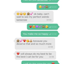boyfriend, cute text, and girlfriend image