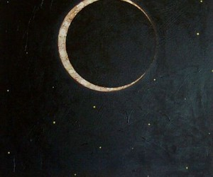 bright, crescent, and crescent moon image