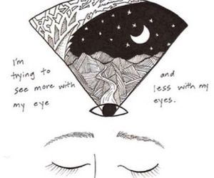 eyes, art, and moon image