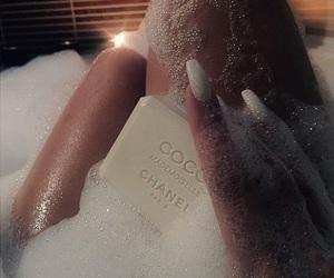 chanel, bath, and nails image