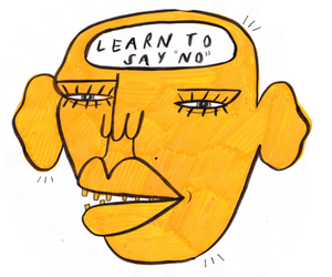 yellow, no, and art image