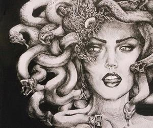 medusa, art, and snake image