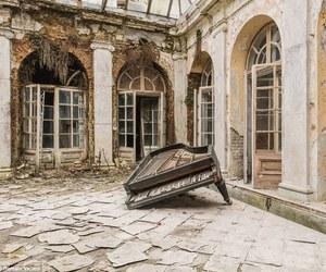 abandoned and piano image