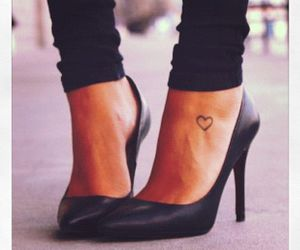 tattoo, heart, and shoes image