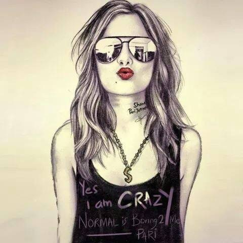 crazy, drawing, and art image