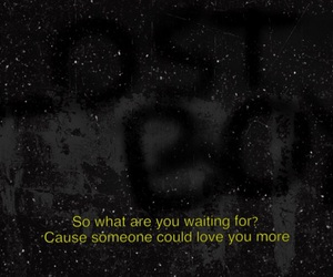 Lyrics, sad, and stars image