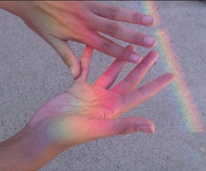 pink, alternative, and rainbow image