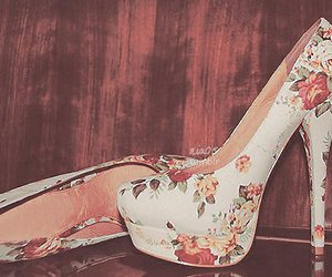flowers, heels, and fashion image
