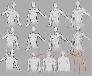 arte, draw, and men image