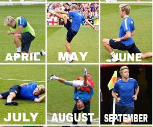 blue, calendar, and football image
