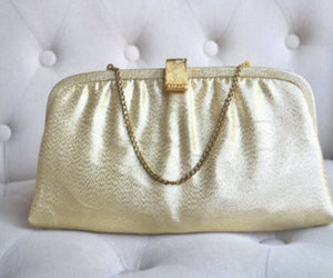 etsy, gold clutch, and metallic purse image