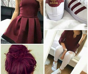 adidas, dress, and shoes image