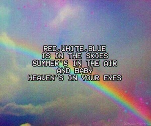 lana del rey, quotes, and rainbow image