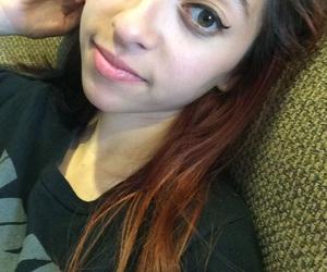 black hair, black and red hair, and orange hair image