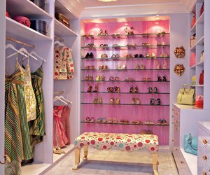 closet, pink, and shoes image