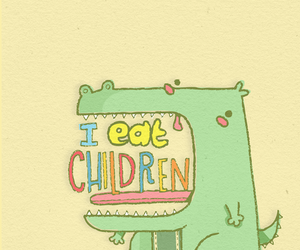 children, eat, and text image