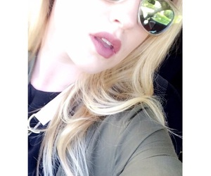 blonde, green, and sun glasses image