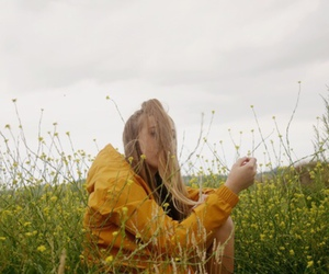 yellow, indie, and flowers image