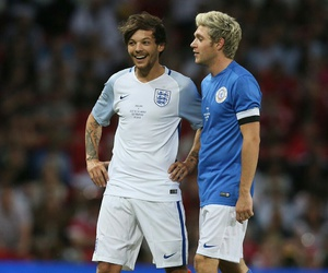 football, niall horan, and one direction image