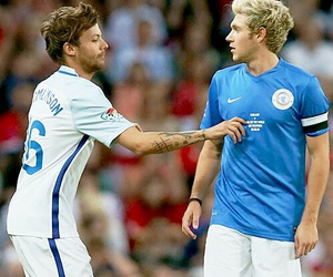 soccer, niall horan, and louis tomlinson image