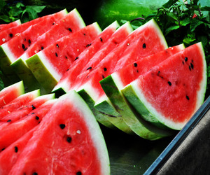 food, fruit, and watermelon image