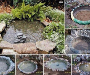 garden, diy, and pond image