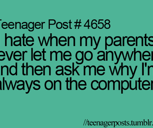 computer, parents, and teen image