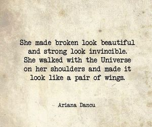 beauty, quote, and wings image