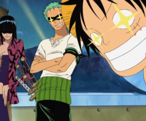 one piece and zoro and robin image