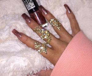 nails, girly, and pink image